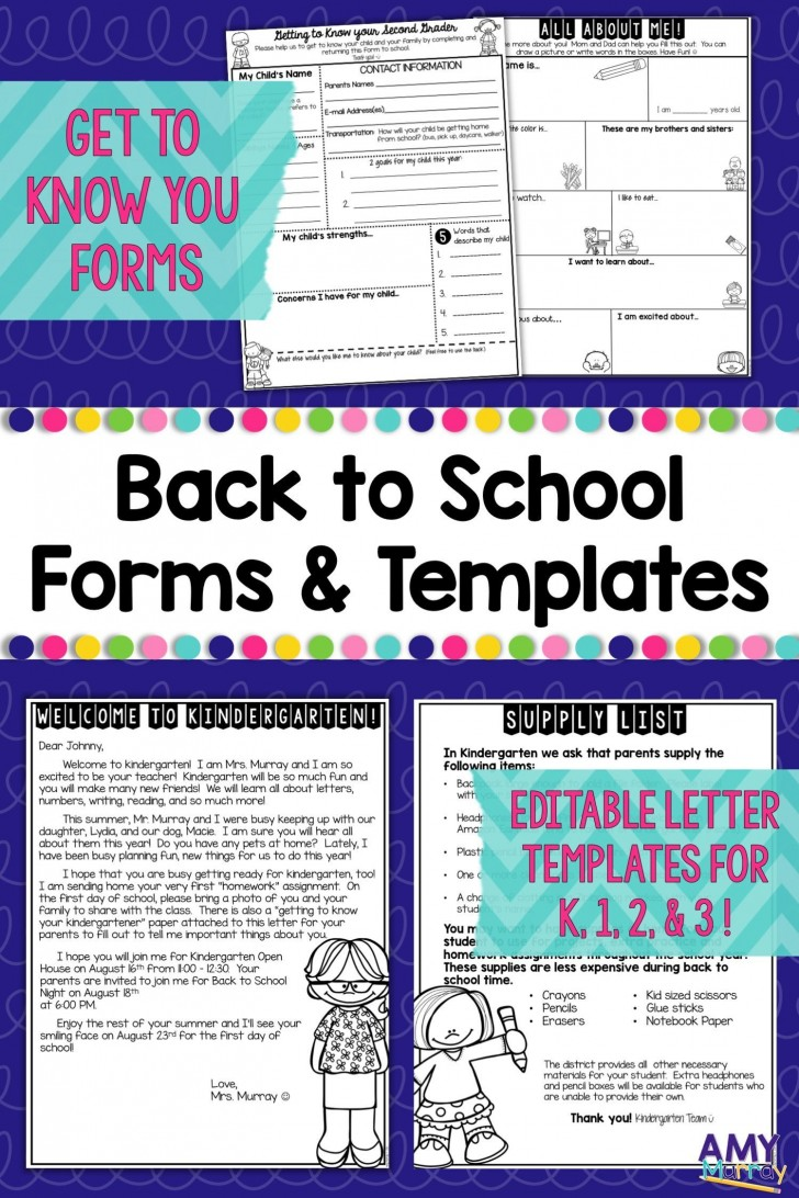 006 Remarkable Teacher Welcome Letter Template Design  Preschool To Parent From Free728