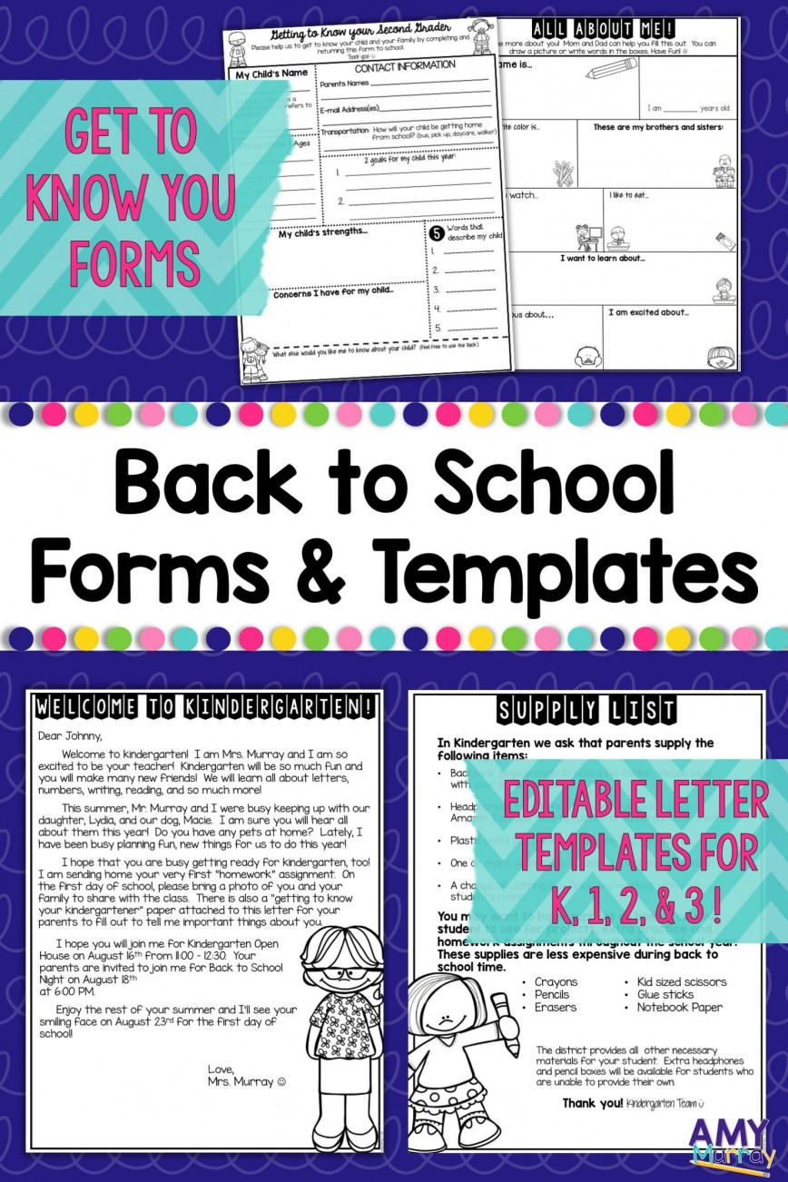006 Remarkable Teacher Welcome Letter Template Design  Preschool To Parent From Free868