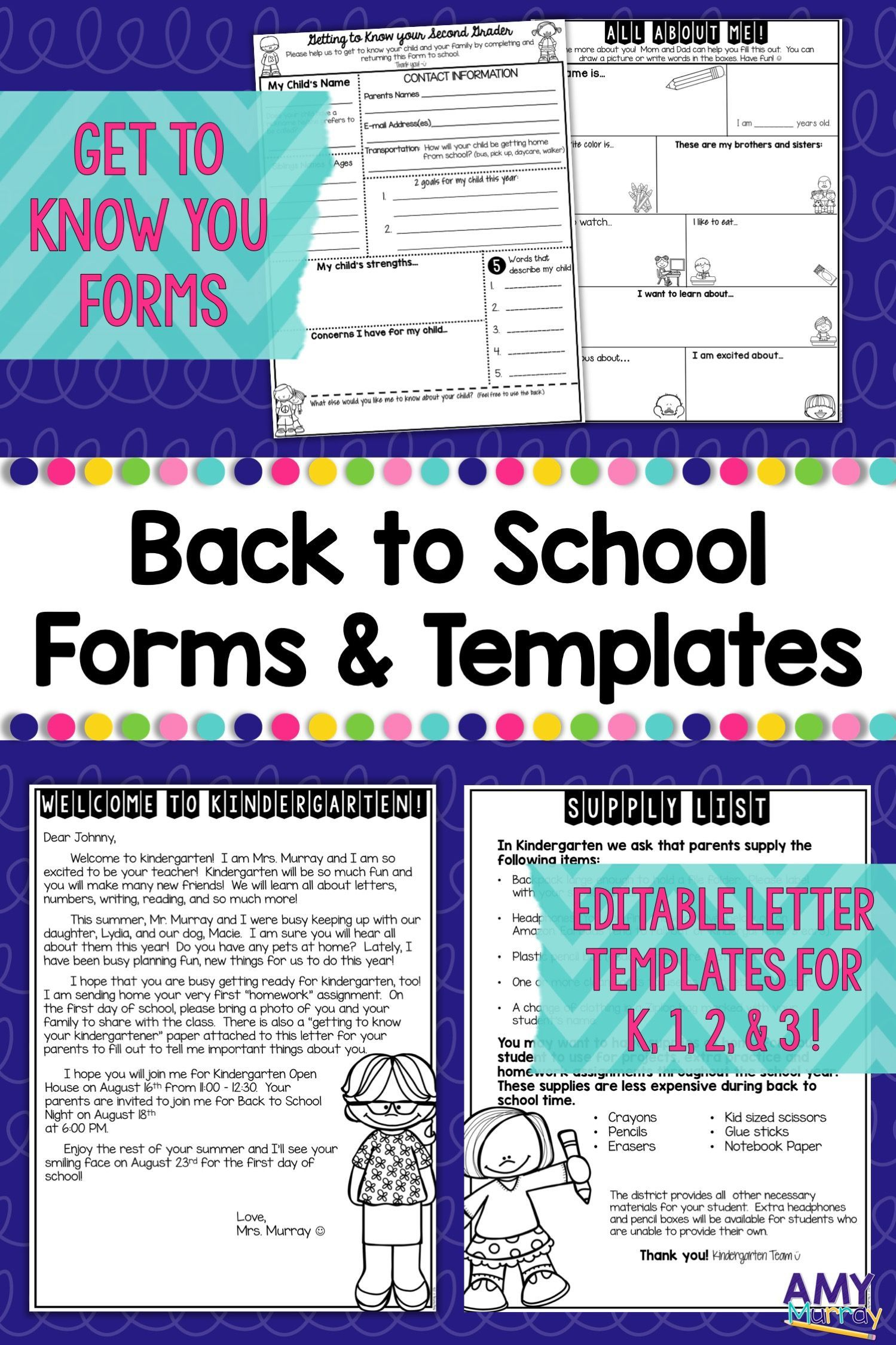 006 Remarkable Teacher Welcome Letter Template Design  Preschool To Parent From FreeFull