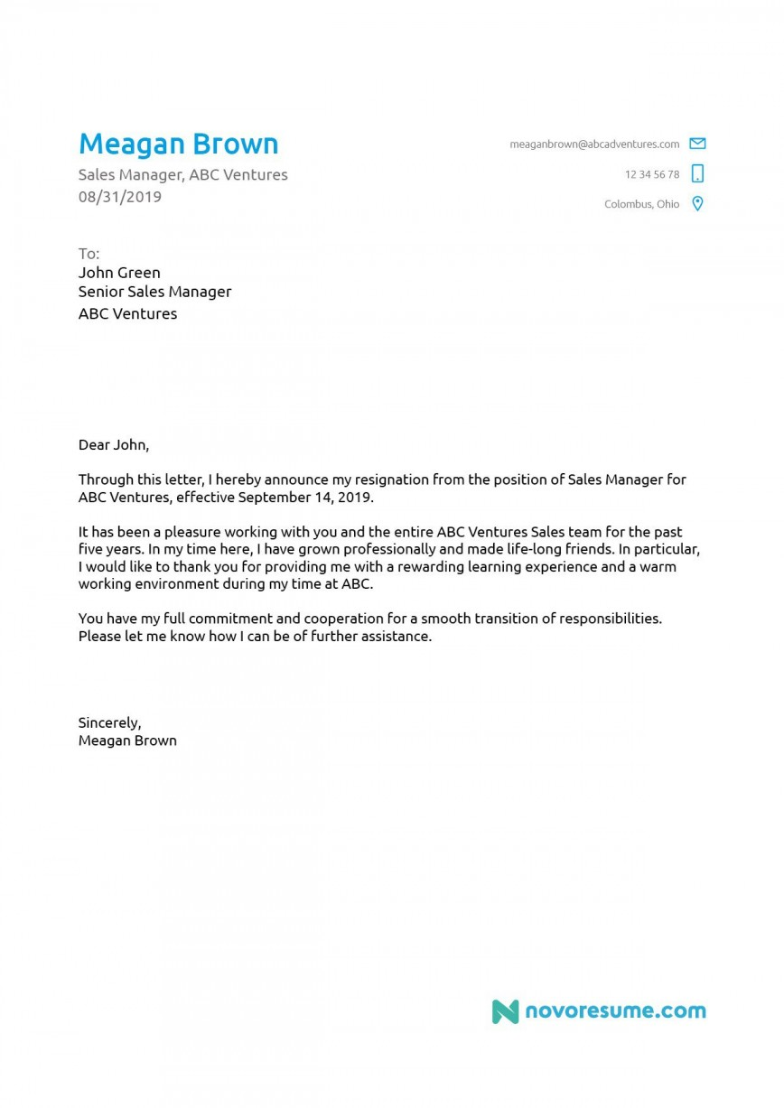 006 Remarkable Template For Letter Of Resignation Concept  Uk From Employment Formal