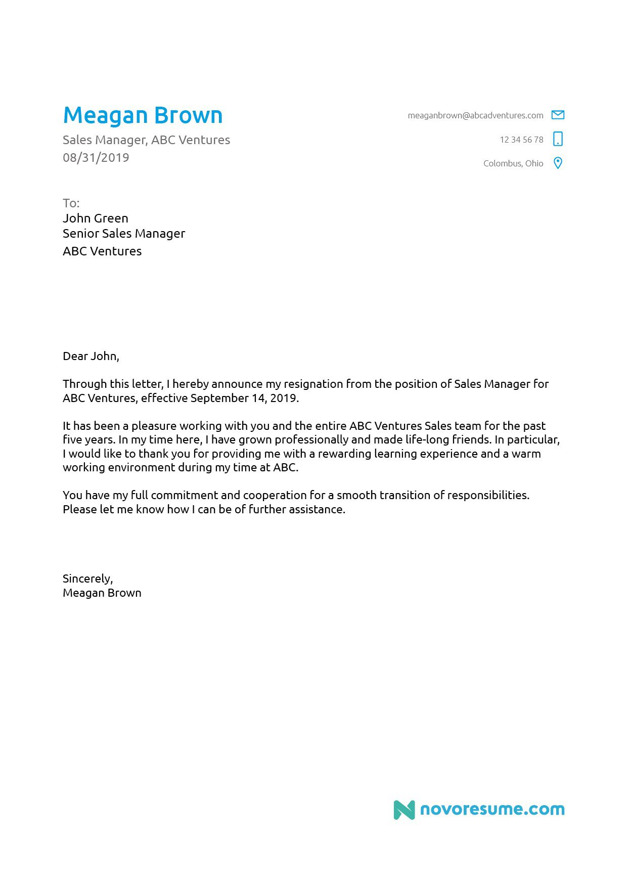 006 Remarkable Template For Letter Of Resignation Concept  Free With Notice Period WordFull