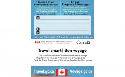 006 Remarkable Travel Emergency Contact Card Template Sample