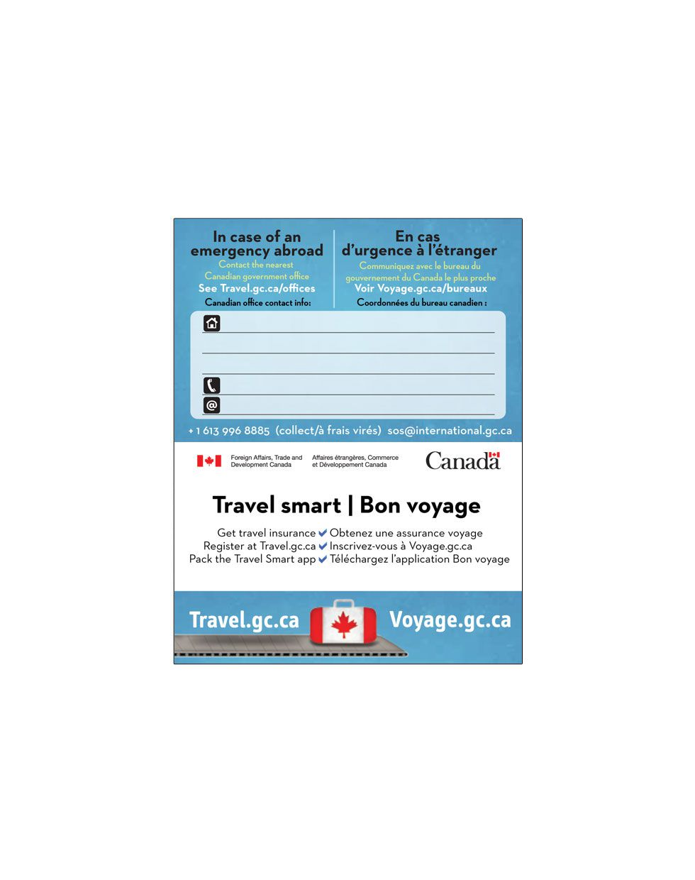 006 Remarkable Travel Emergency Contact Card Template Sample Full