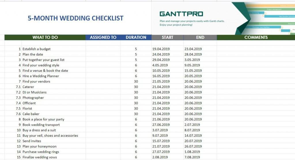 006 Remarkable Wedding Planning Timeline Template High Resolution  Day Planner Of 6 MonthLarge