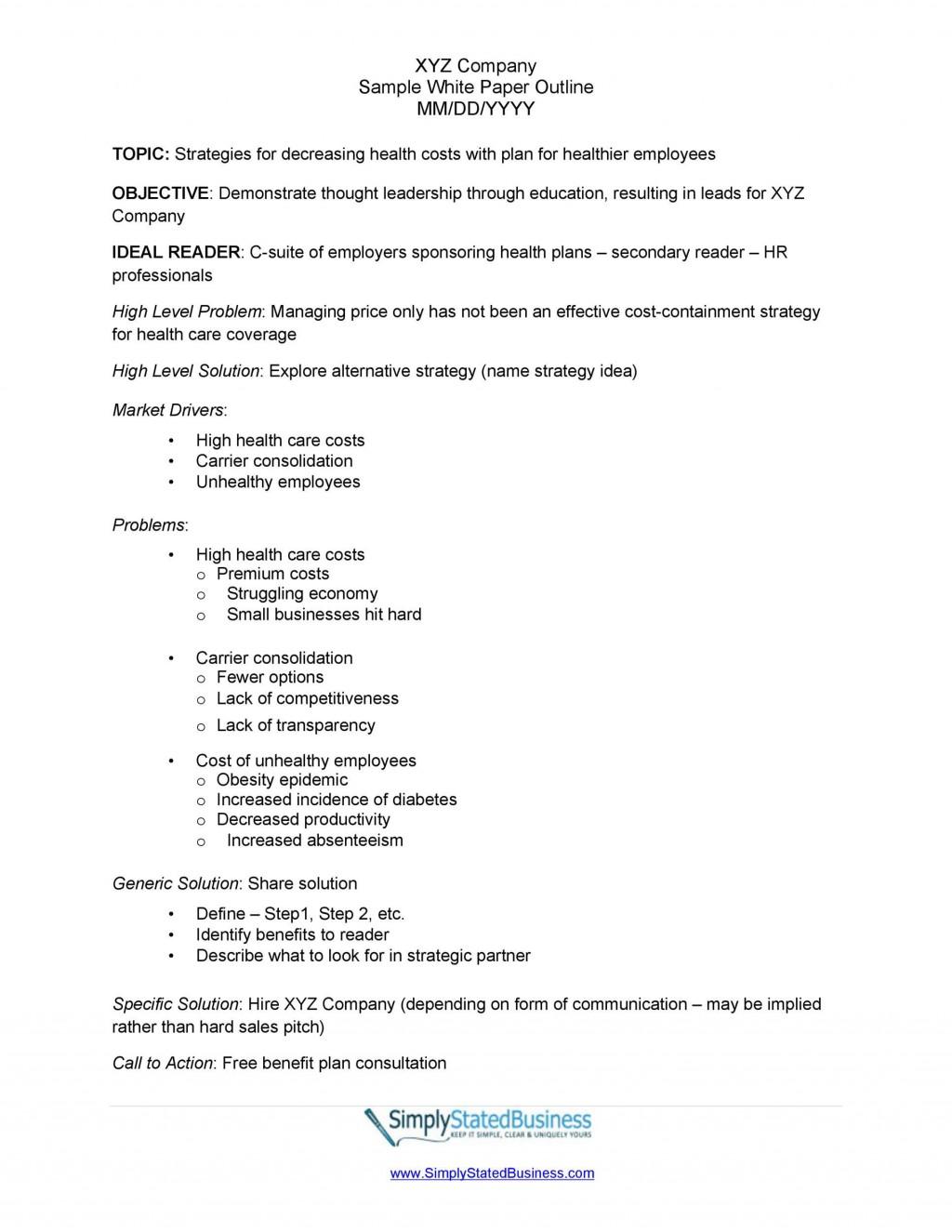 006 Remarkable White Paper Outline Sample Concept Large