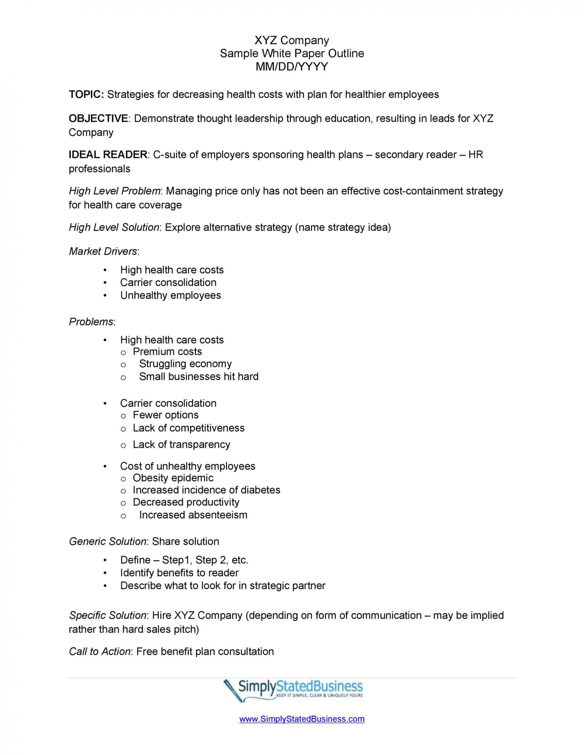 006 Remarkable White Paper Outline Sample Concept 1920