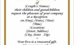 006 Sensational 50th Wedding Anniversary Invitation Template Free Image  Download Golden Microsoft Word