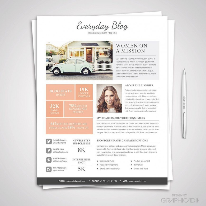 006 Sensational Blog Template For Word Concept  Wordpres Free Download Personal