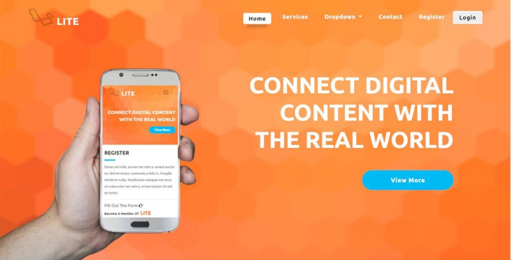 006 Sensational Bootstrap Mobile App Template Highest Quality  Html5 Form 4Large