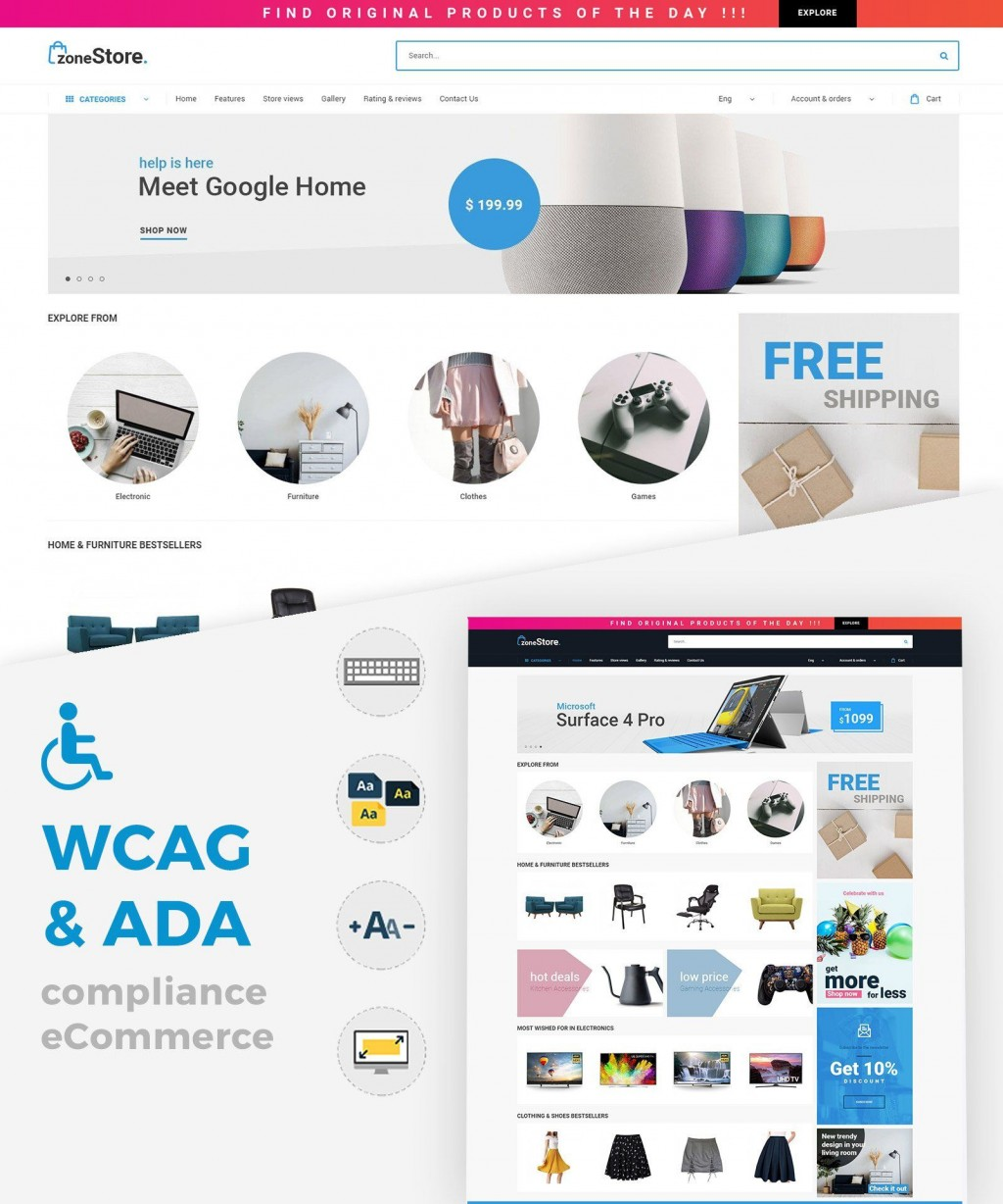 006 Sensational Free Ecommerce Website Template High Definition  With Shopping Cart Admin Panel BootstrapLarge