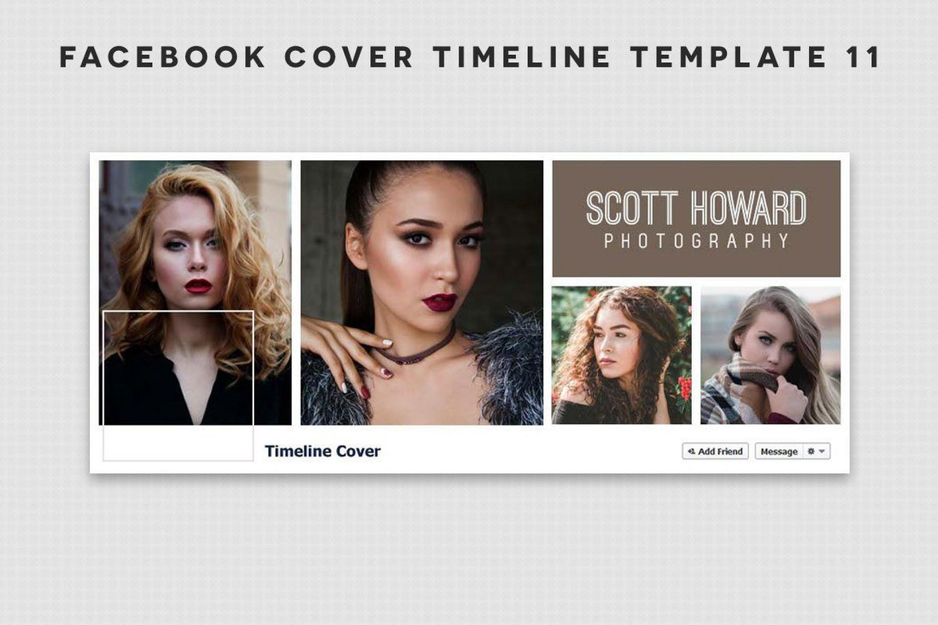 006 Sensational Free Facebook Cover Template Photo  Templates Photoshop1920