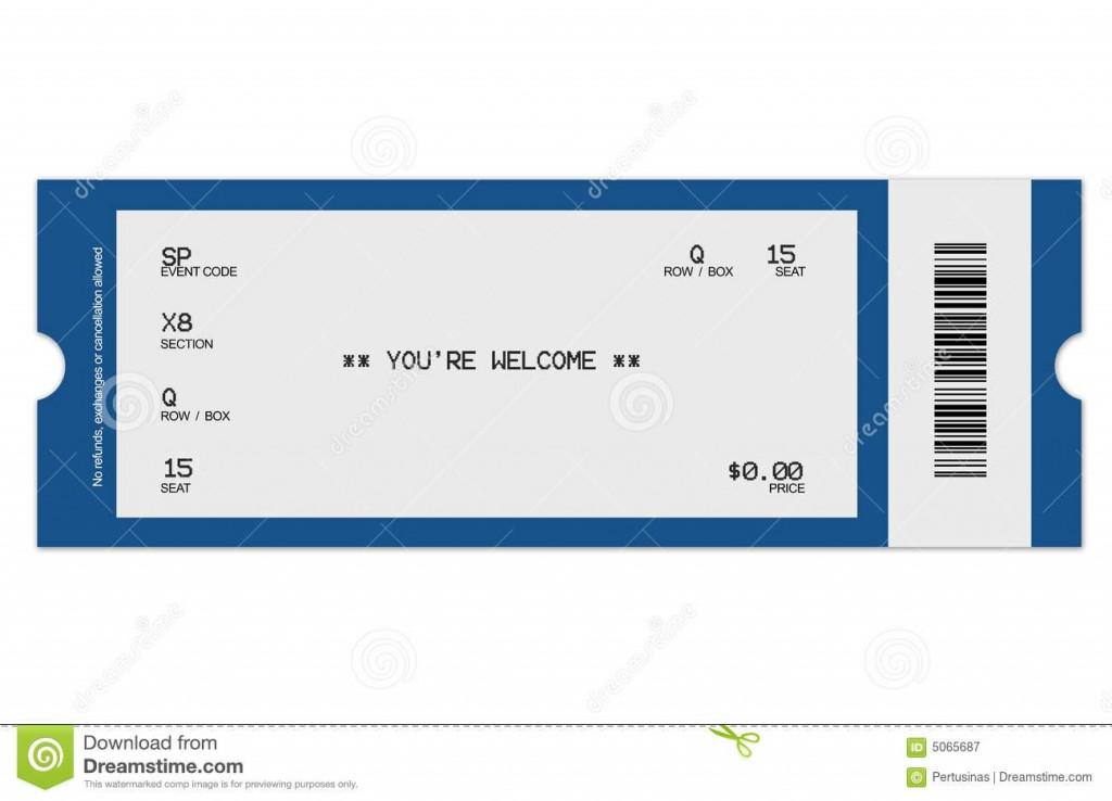 006 Sensational Free Fake Concert Ticket Template High Def Large