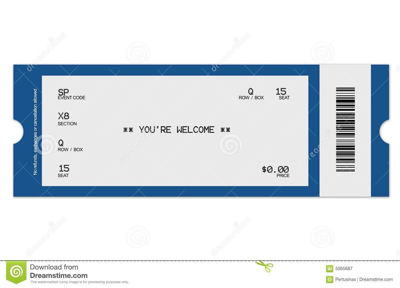 006 Sensational Free Fake Concert Ticket Template High Def Full