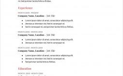 006 Sensational Free Printable Resume Template Pdf Sample