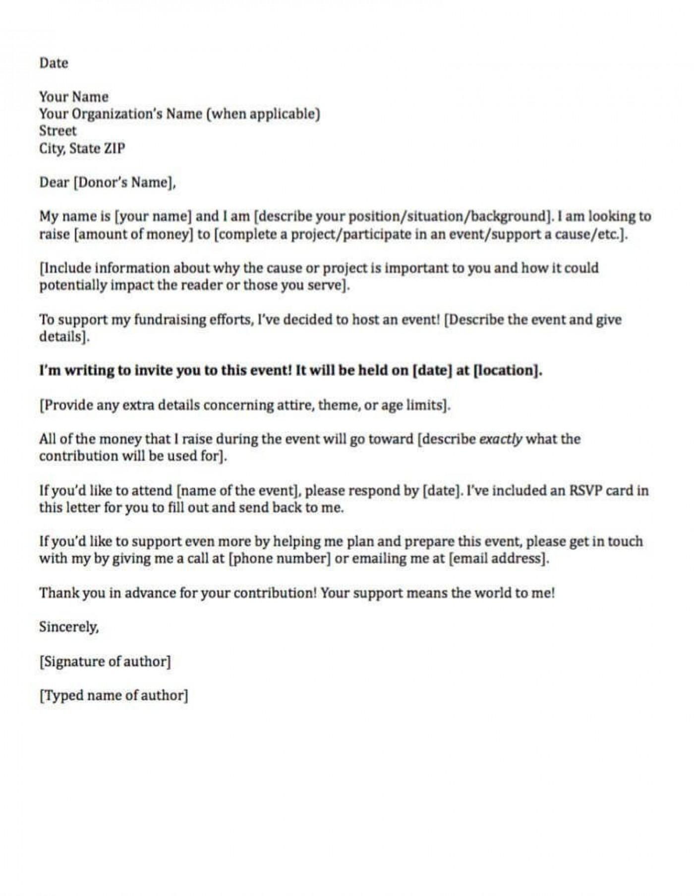 006 Sensational Fund Raising Letter Template Design  Fundraising For Mission Trip School Sample Of A Nonprofit Organization1400
