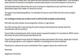 006 Sensational Fund Raising Letter Template Design  Fundraising For Mission Trip School Sample Of A Nonprofit Organization