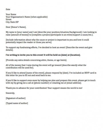 006 Sensational Fund Raising Letter Template Design  Fundraising For Mission Trip School Sample Of A Nonprofit Organization360