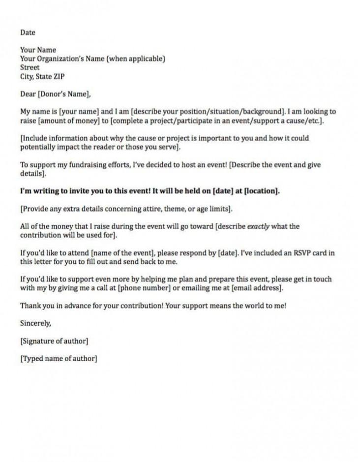 006 Sensational Fund Raising Letter Template Design  Fundraising For Mission Trip School Sample Of A Nonprofit Organization728
