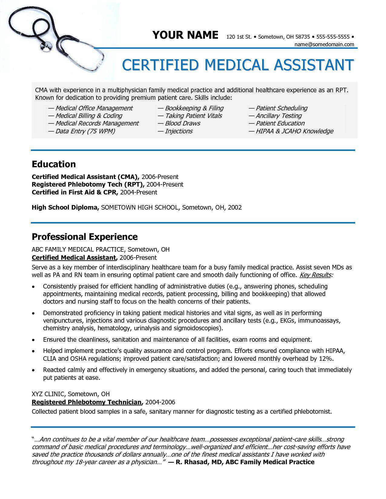 006 Sensational Medical Resume Template Free Image  Receptionist Cv CoderFull