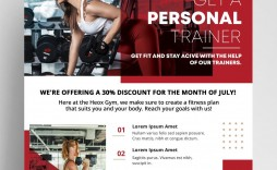 006 Sensational Personal Trainer Flyer Template Photo  Word Psd
