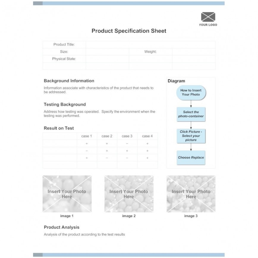 006 Sensational Product Data Sheet Template Picture  Spec Excel Specification Word