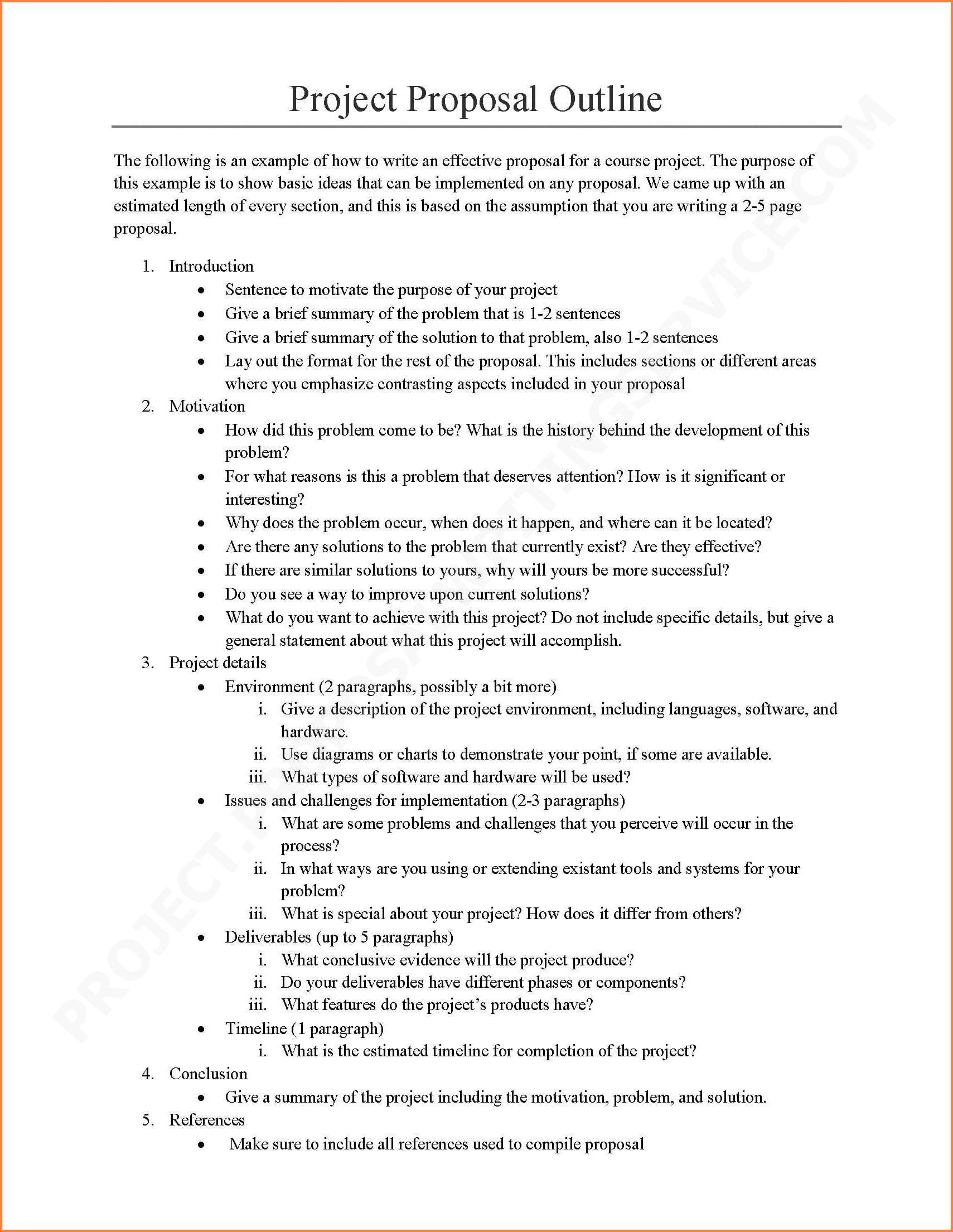 006 Sensational Research Project Proposal Example Pdf Concept  FormatFull