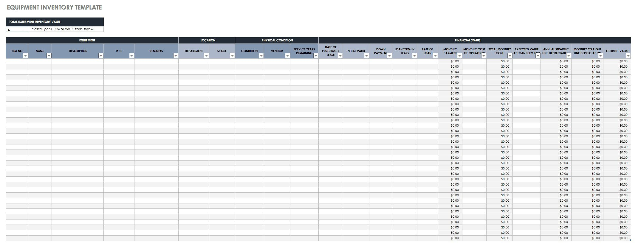 006 Sensational Small Busines Inventory Spreadsheet Template Concept  PdfFull