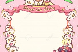 006 Sensational Tea Party Invitation Template Picture  Wording Vintage Free Sample