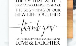 006 Sensational Thank You Note For Wedding Guest Template Inspiration  Card