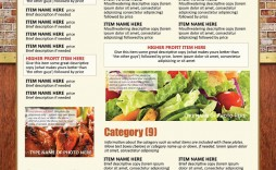 006 Sensational To Go Menu Template High Definition  Tri Fold Word Restaurant Free