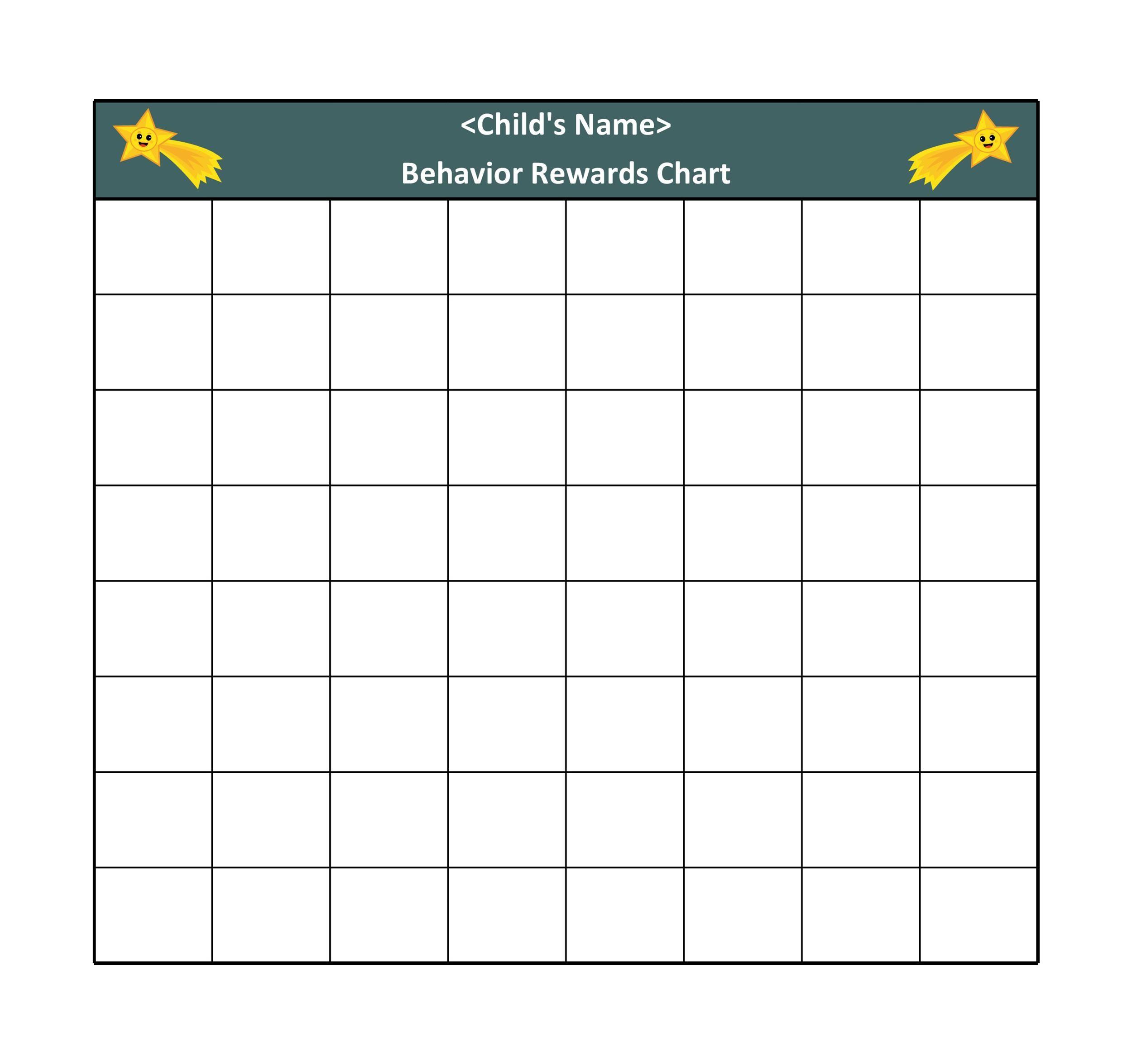 006 Sensational Weekly Behavior Chart Template Inspiration  Pdf ClassroomFull