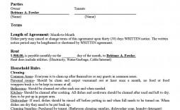 006 Shocking Basic Rental Agreement Template Highest Quality  Tenancy Simple Word Doc