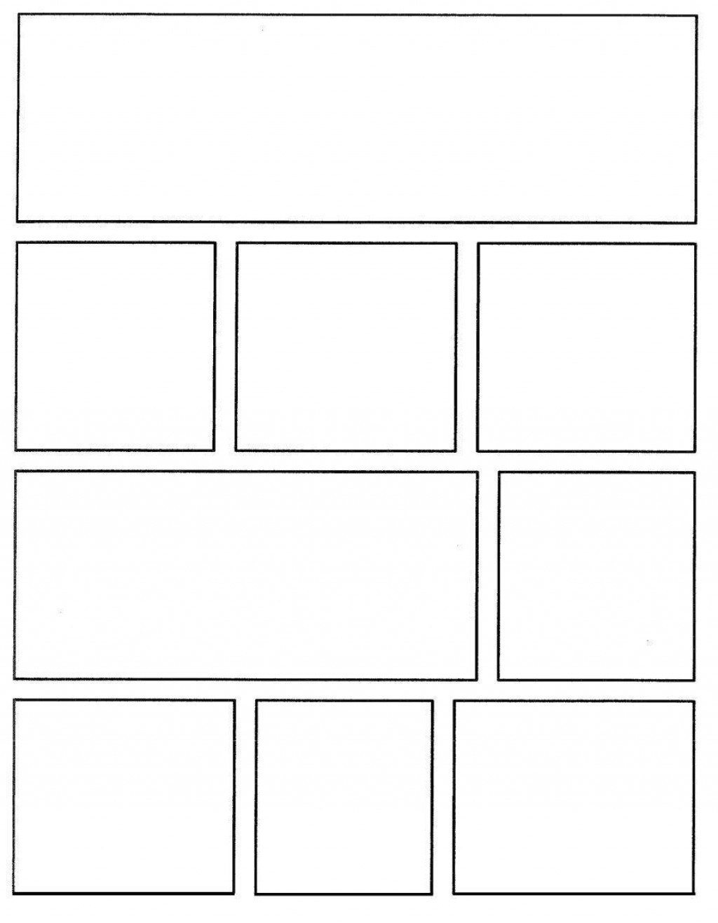 006 Shocking Comic Strip Template Word Doc Highest Quality Large