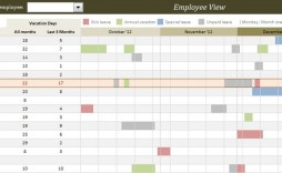 006 Shocking Employee Calendar Template Excel Picture  Staff Leave Vacation Planner