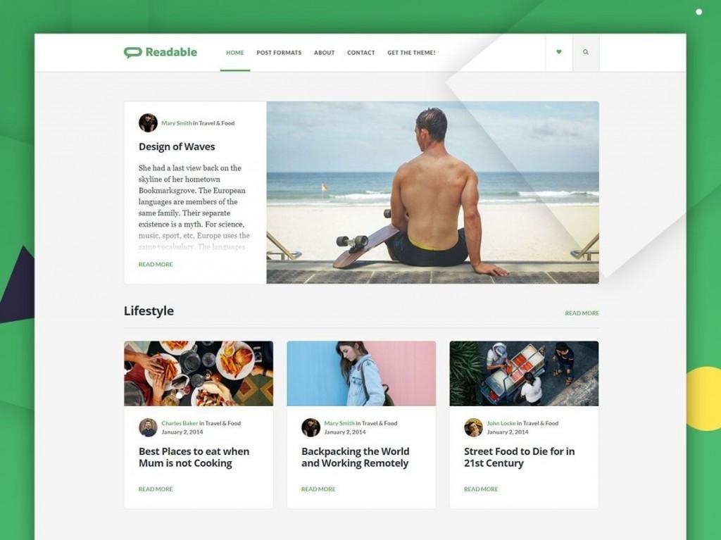 006 Shocking Free Blog Template Wordpres Idea  Wordpress Best Travel Theme Food 2020Large
