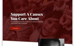 006 Shocking Free Non Profit Website Template Sample  Templates Organization Charity