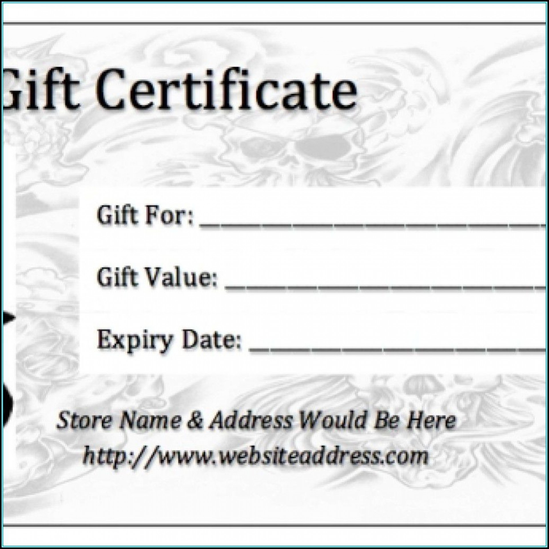 006 Shocking Gift Certificate Template Pdf Example  Massage Christma Printable1920
