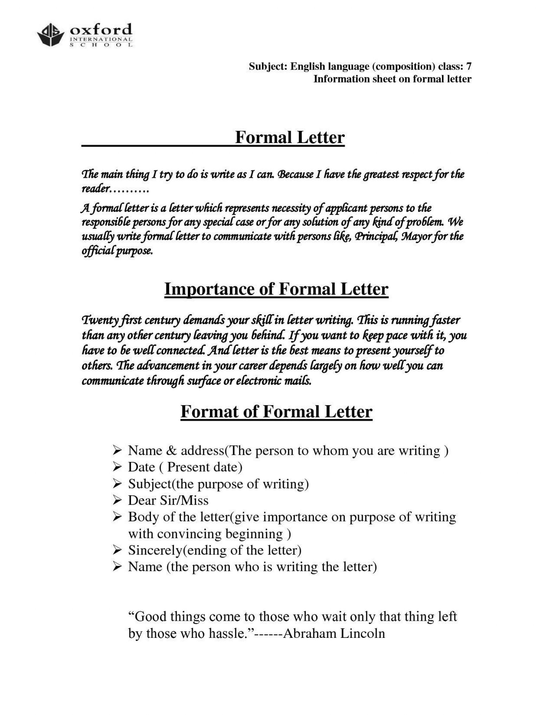 006 Shocking Hindi Letter Writing Format Pdf Free Download Inspiration 1920