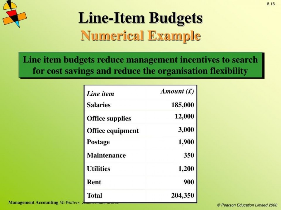006 Shocking Line Item Budget Example  Format Meaning With960
