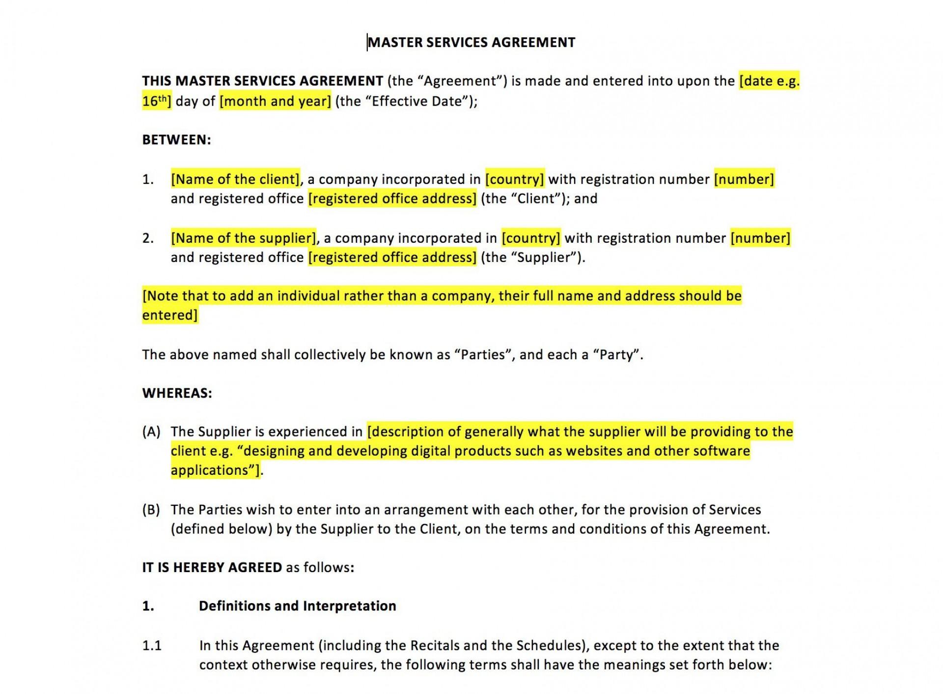 006 Shocking Master Service Agreement Template Inspiration  Marketing For Software Development1920