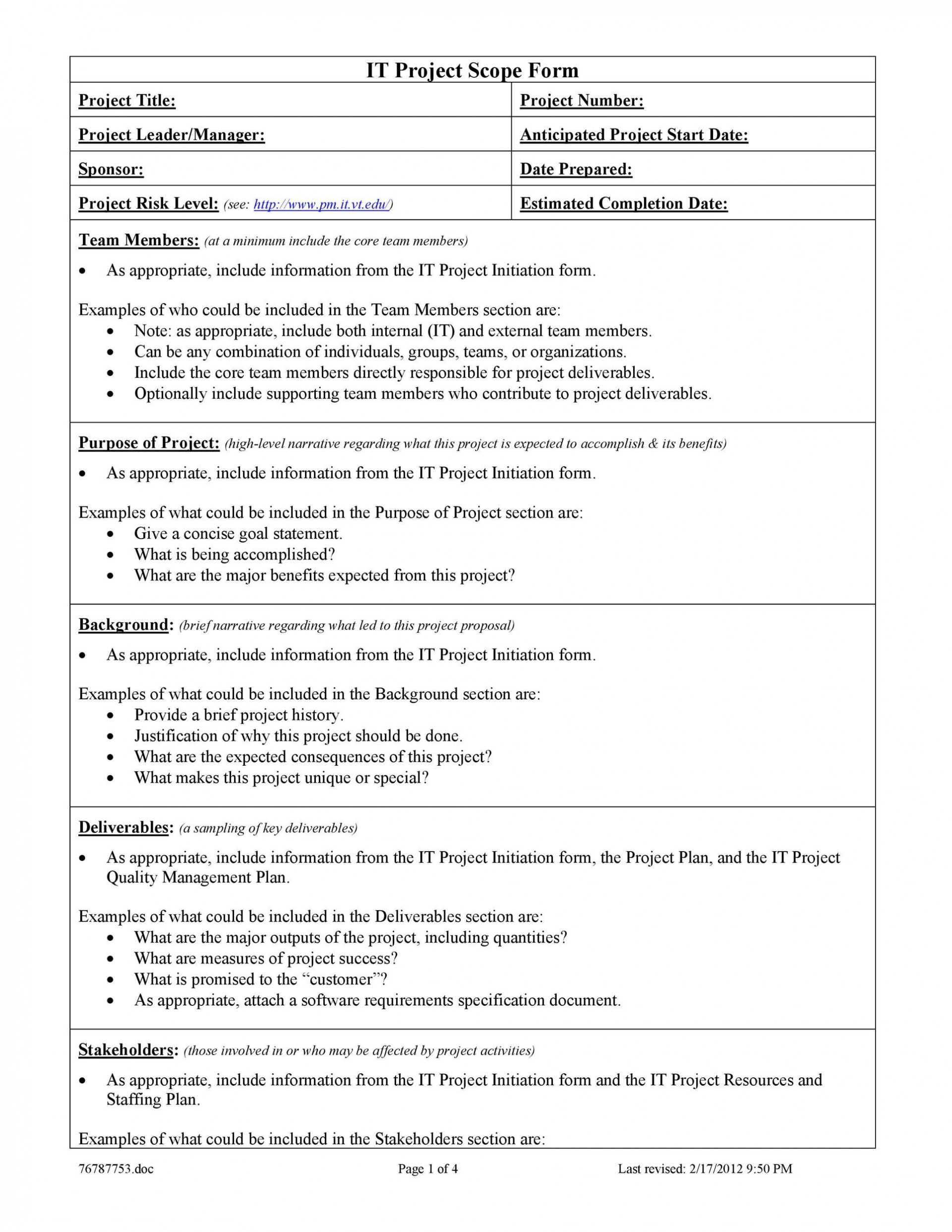 006 Shocking Project Scope Management Plan Template Free High Definition 1920