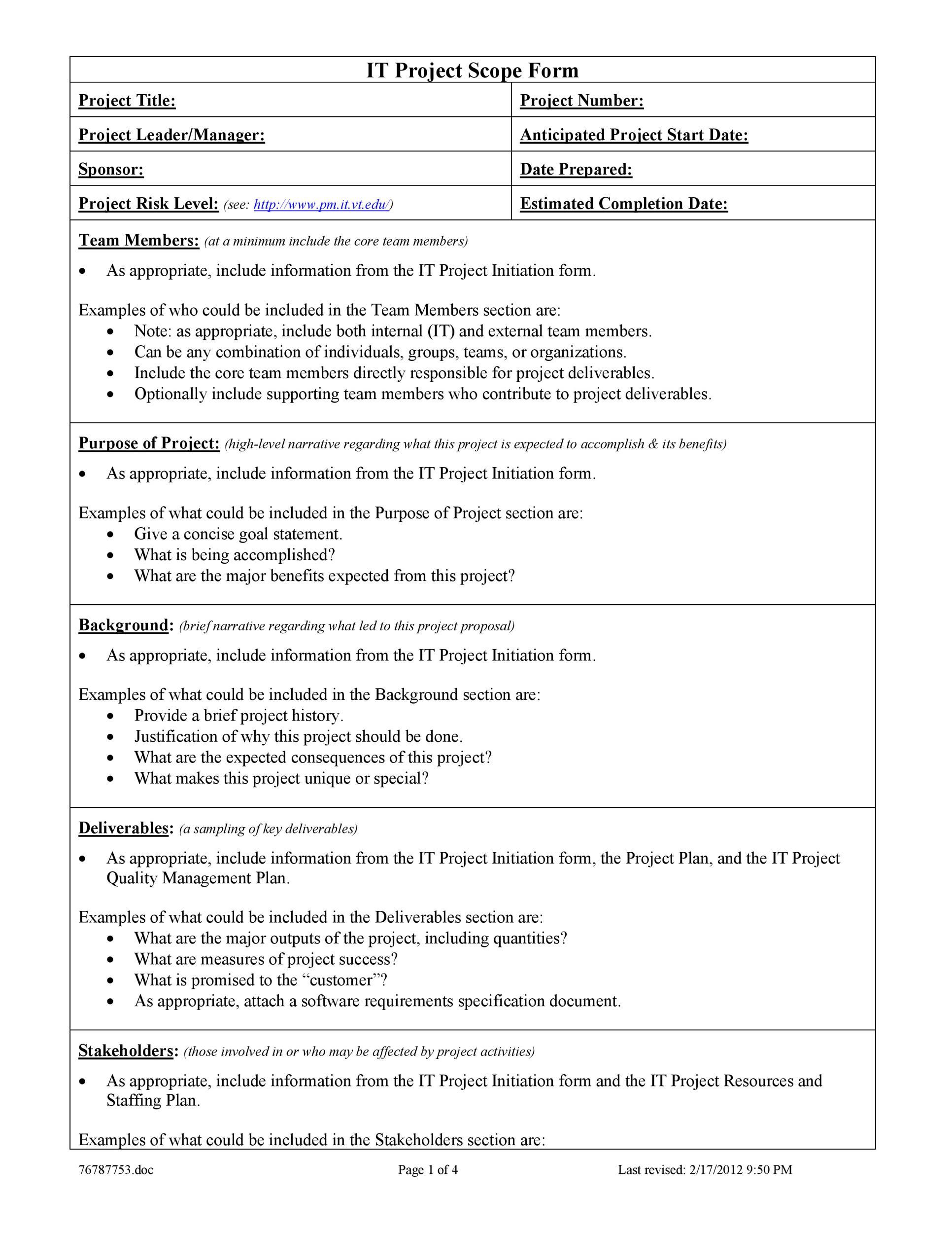 006 Shocking Project Scope Management Plan Template Free High Definition Full