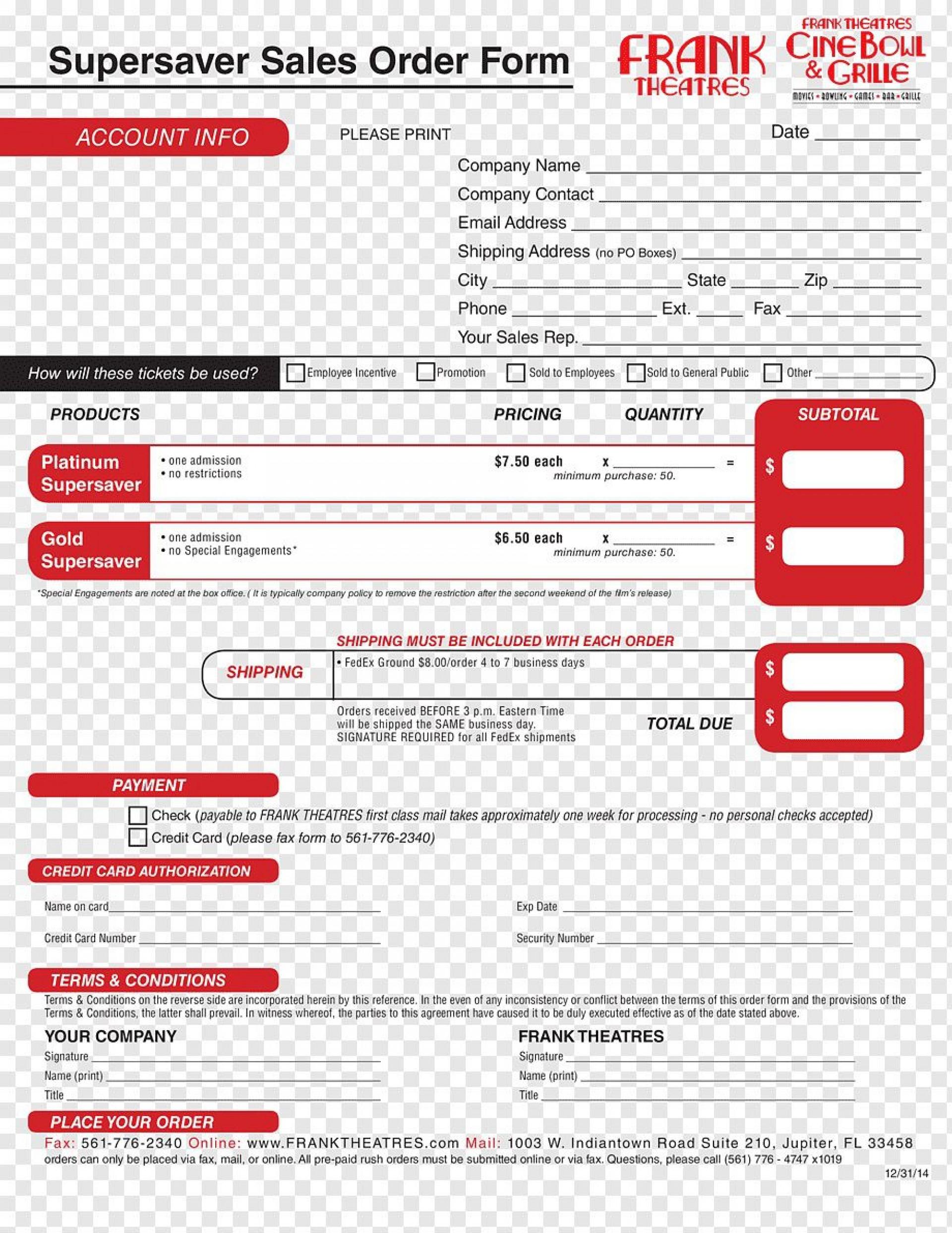 006 Shocking Sale Order Form Template Inspiration  Templates Excel Word Free Online1920