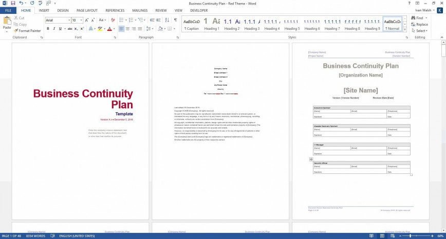 006 Shocking Simple Busines Continuity Plan Template Photo  Example Small Sample