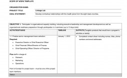 006 Shocking Simple Scope Of Work Template Highest Clarity  Example Sample Excel