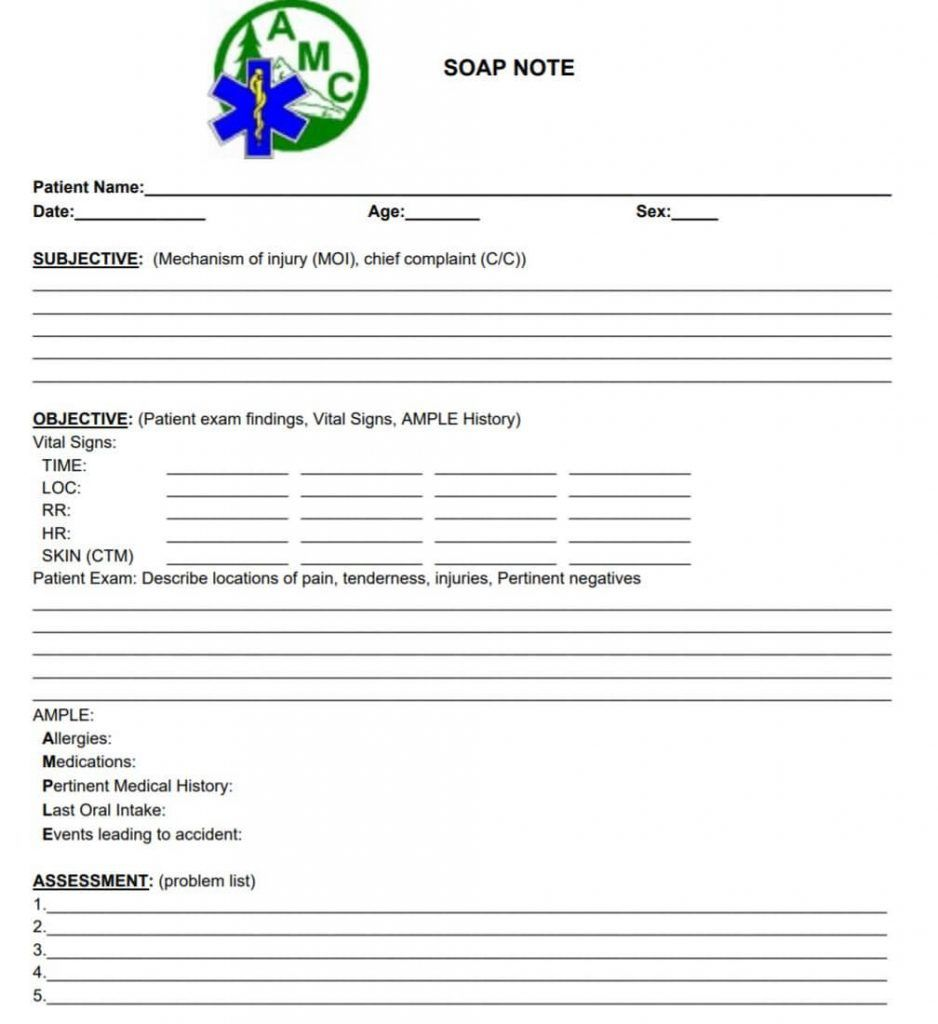 006 Shocking Soap Note Template Pdf Concept  Massage Free ChiropracticFull