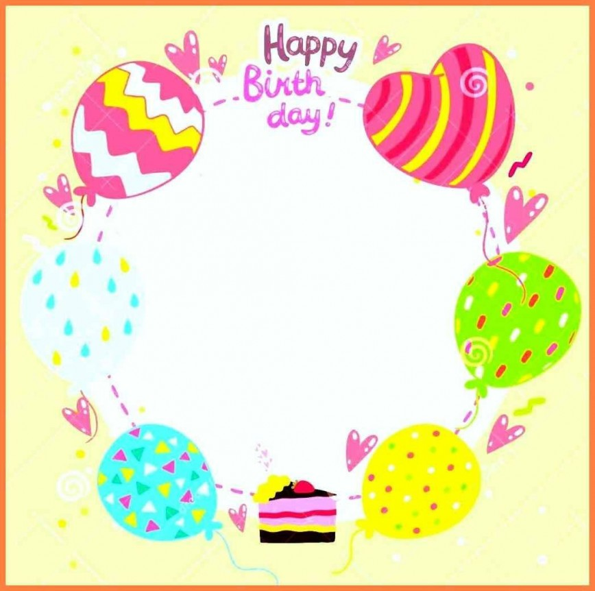 006 Shocking Template For Birthday Card Sample  Downloadable Word Invitation 1st Blank