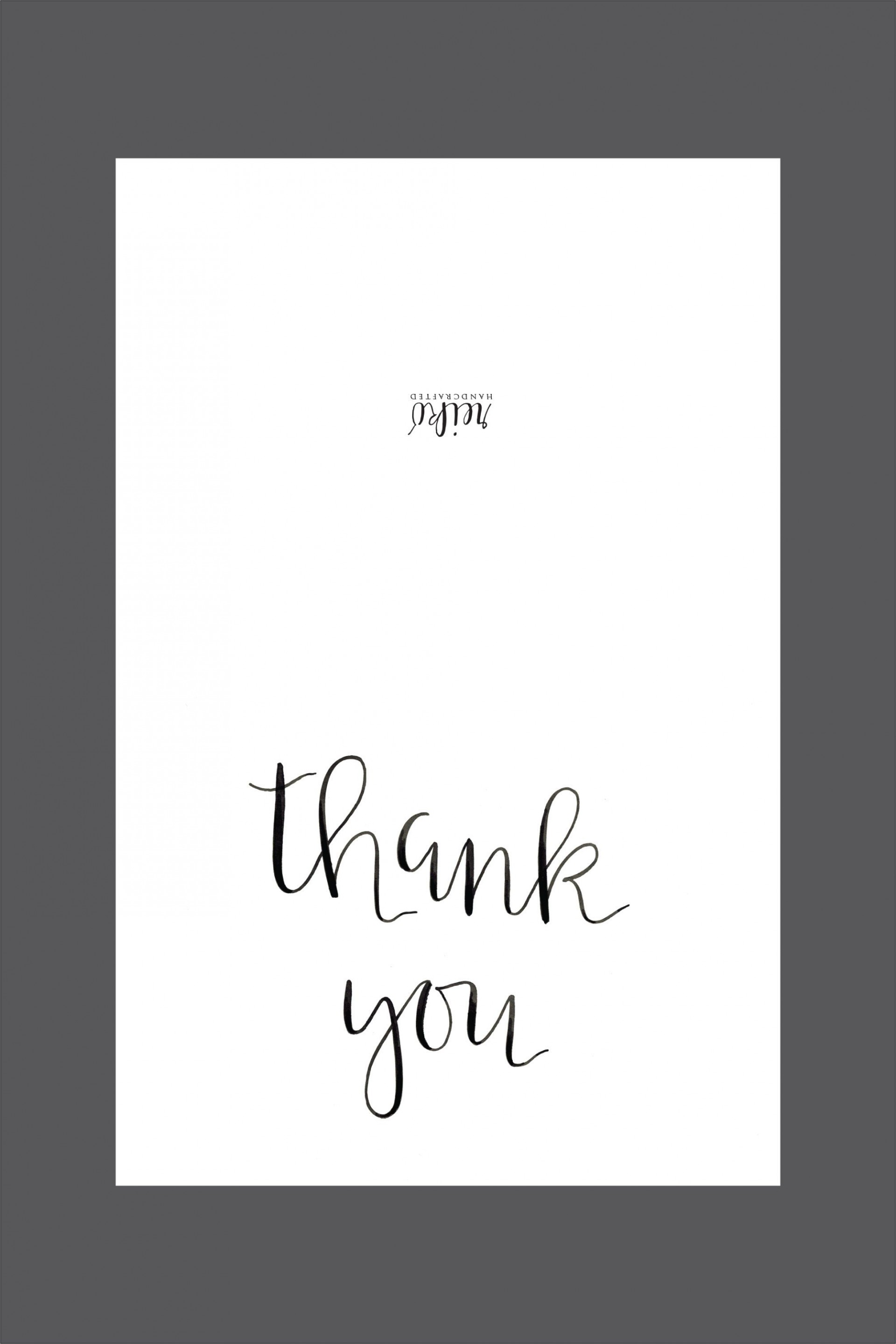 006 Shocking Thank You Note Template Free Printable Design 1920