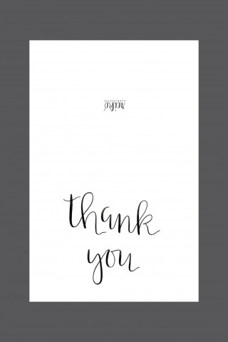 006 Shocking Thank You Note Template Free Printable Design 320