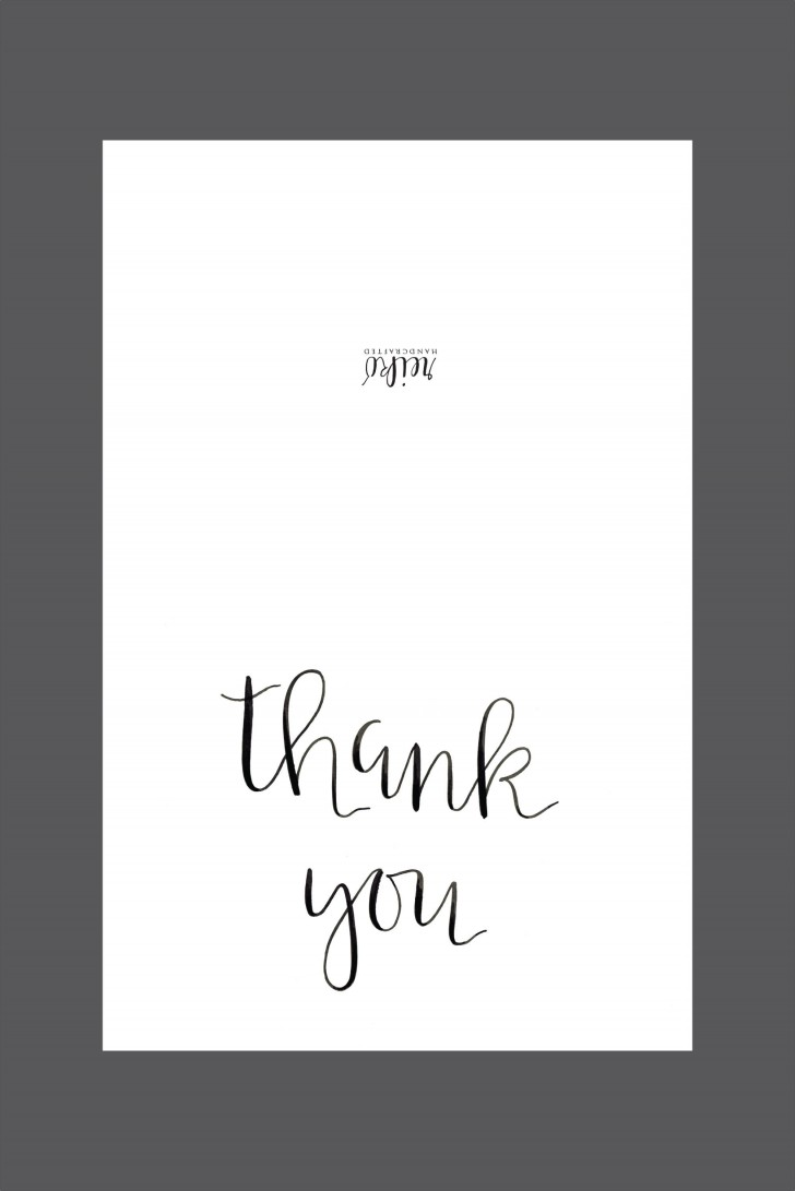 006 Shocking Thank You Note Template Free Printable Design 728